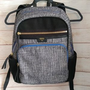 EUC***Fossil Gray and Black Backpack